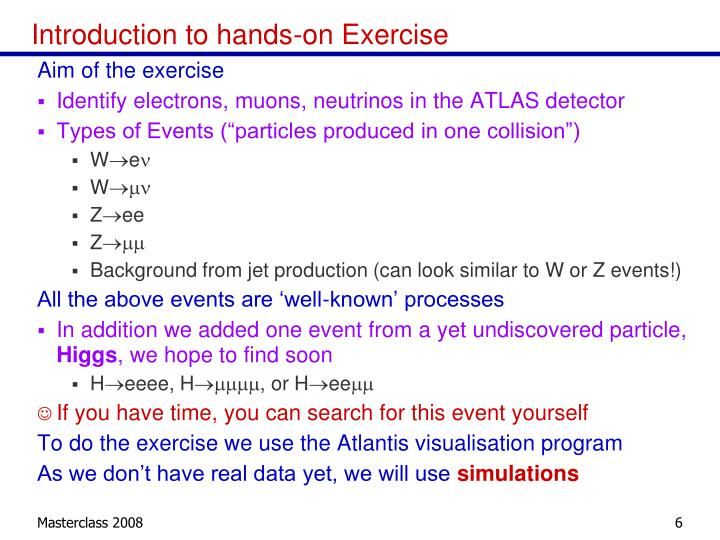 Introduction to hands-on Exercise