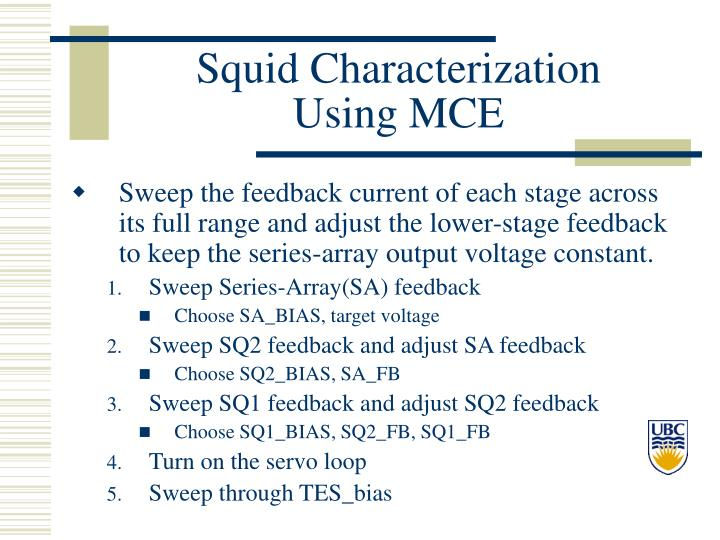 Squid Characterization