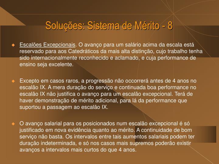 Soluções: Sistema de Mérito - 8