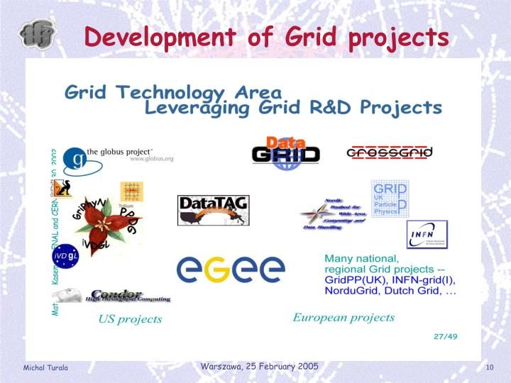 Development of Grid projects