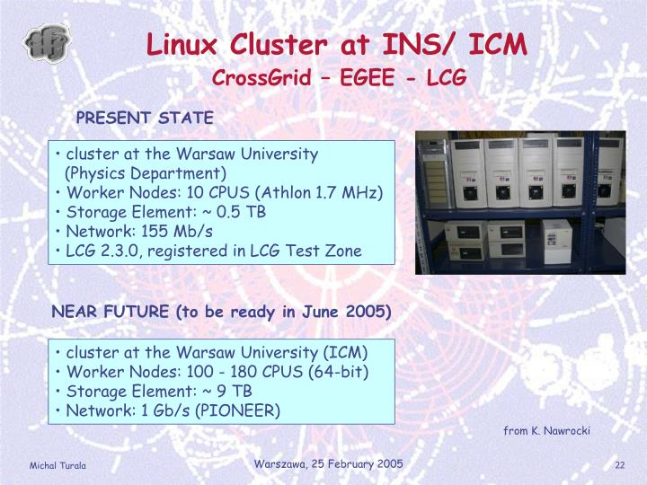 Linux Cluster at INS/ ICM