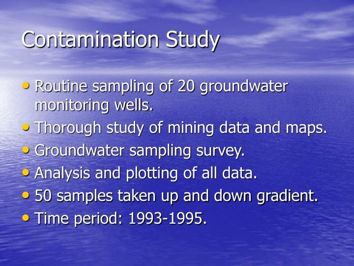 Contamination Study