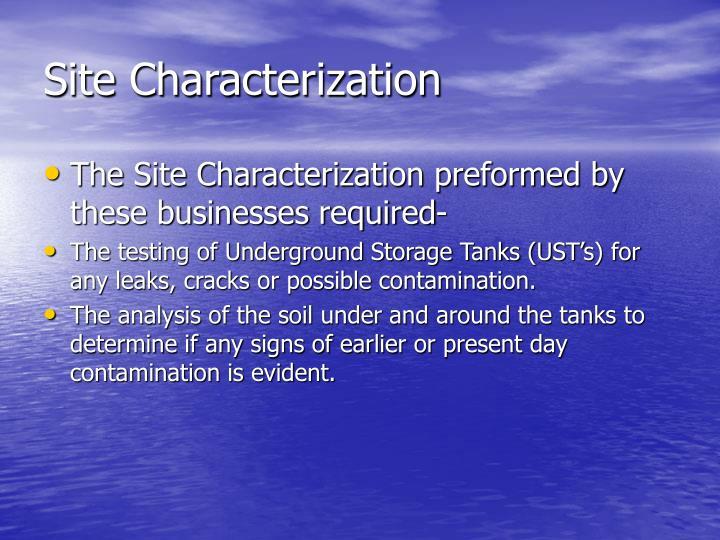 Site Characterization