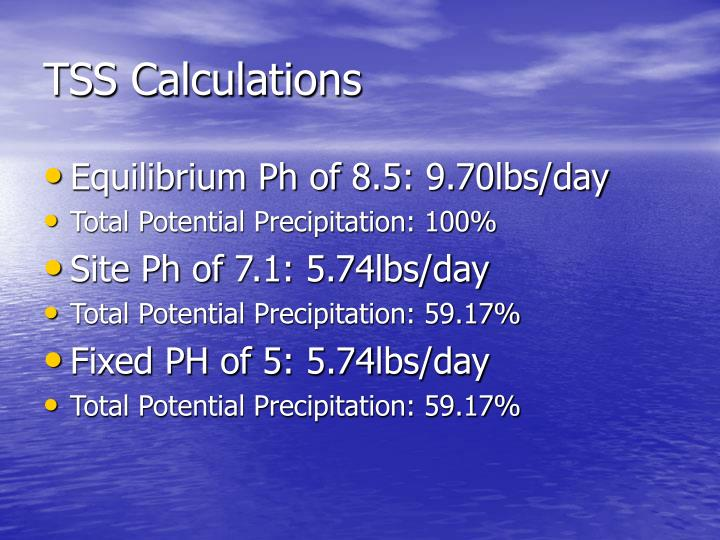 TSS Calculations