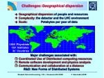 challenges geographical dispersion