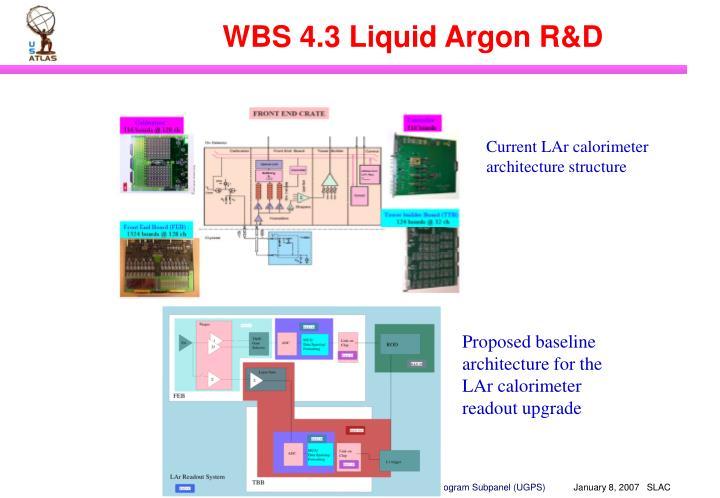 WBS 4.3 Liquid Argon R&D