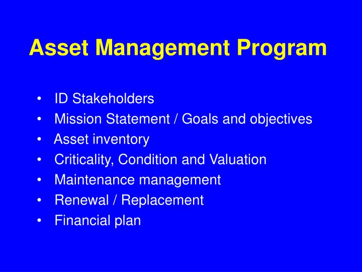 Asset Management Program