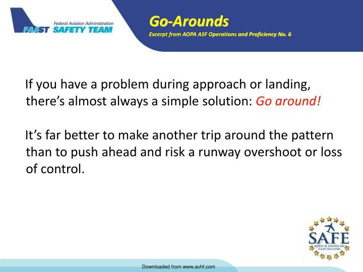 Go-Arounds