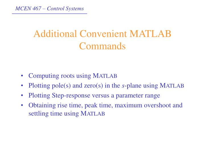 Computing roots using M