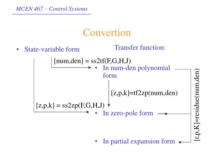 State-variable form