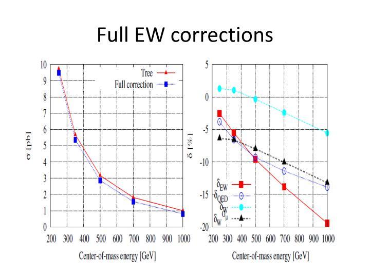 Full EW corrections