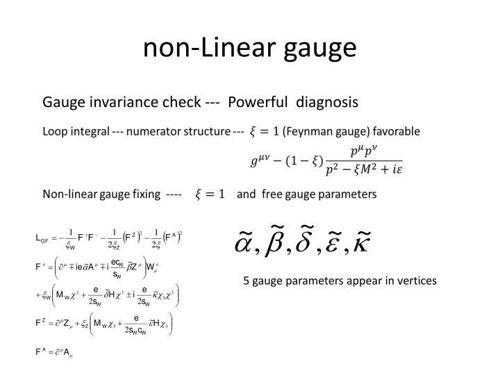 non-Linear gauge