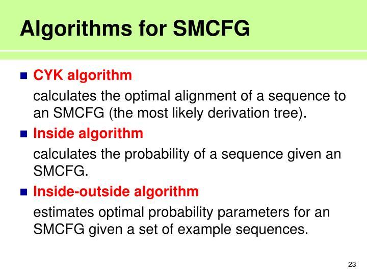 Algorithms for SMCFG
