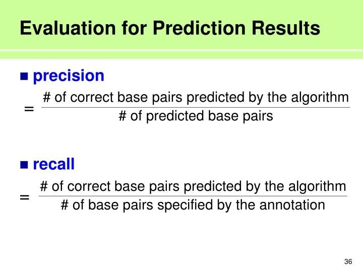 Evaluation for Prediction Results