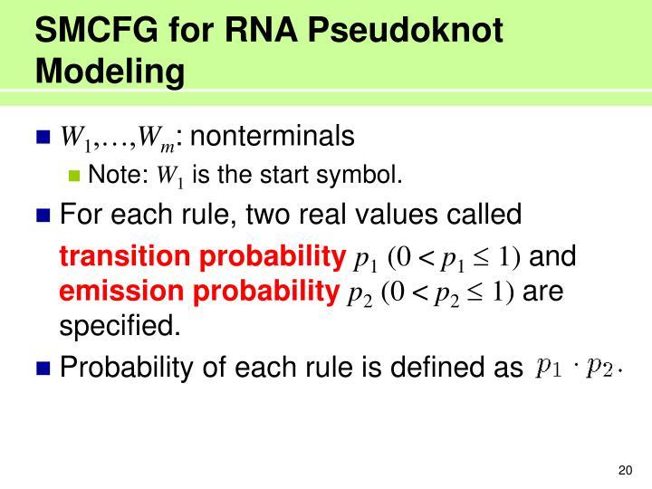 SMCFG for RNA Pseudoknot Modeling