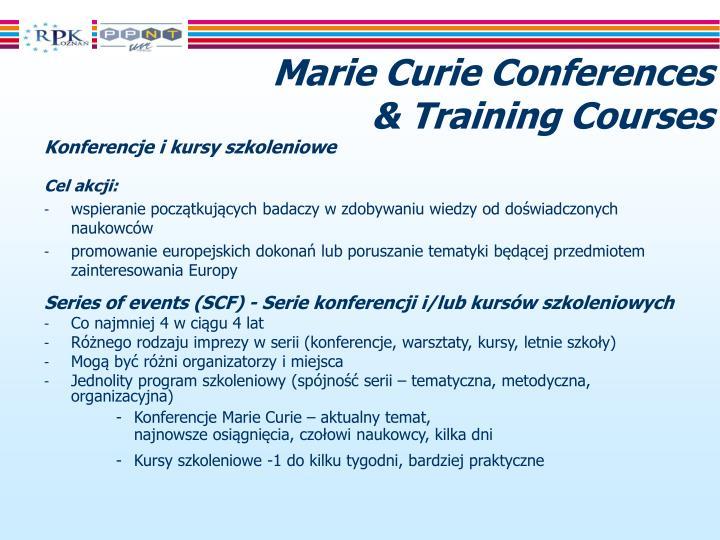 Marie Curie Conferences