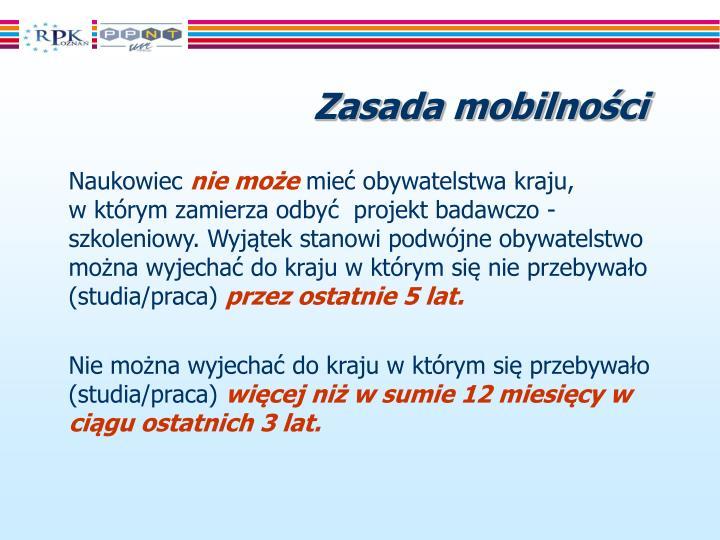 Zasada mobilności