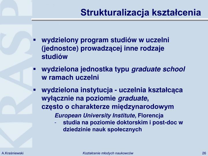 Strukturalizacja kształcenia