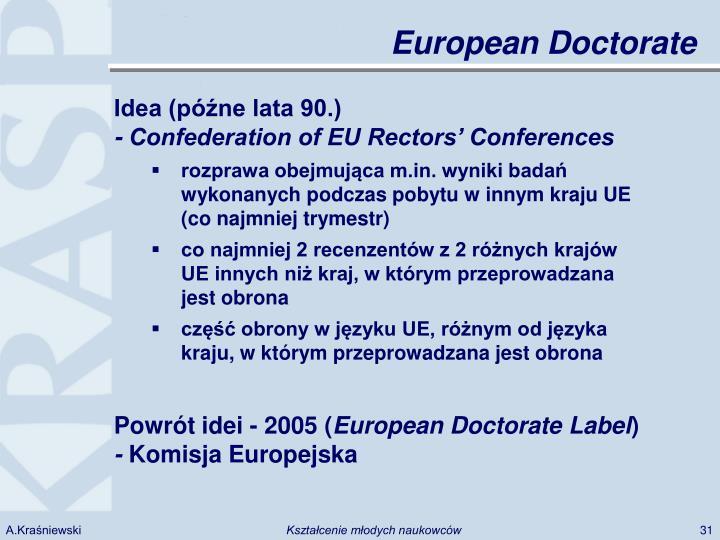 European Doctorate