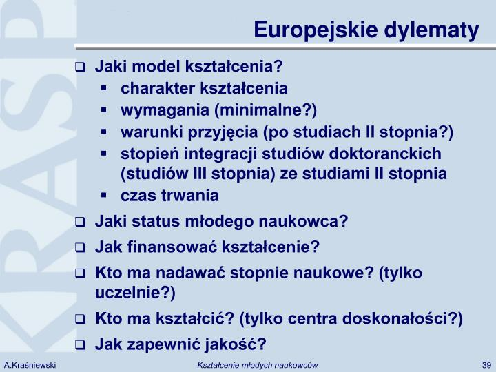 Europejskie dylematy
