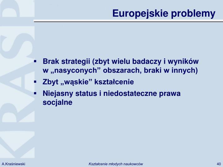 Europejskie problemy