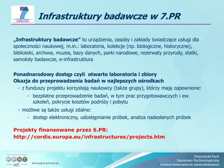 """Infrastruktury badawcze"""