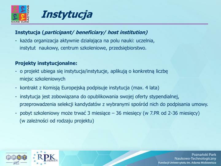 Instytucja (