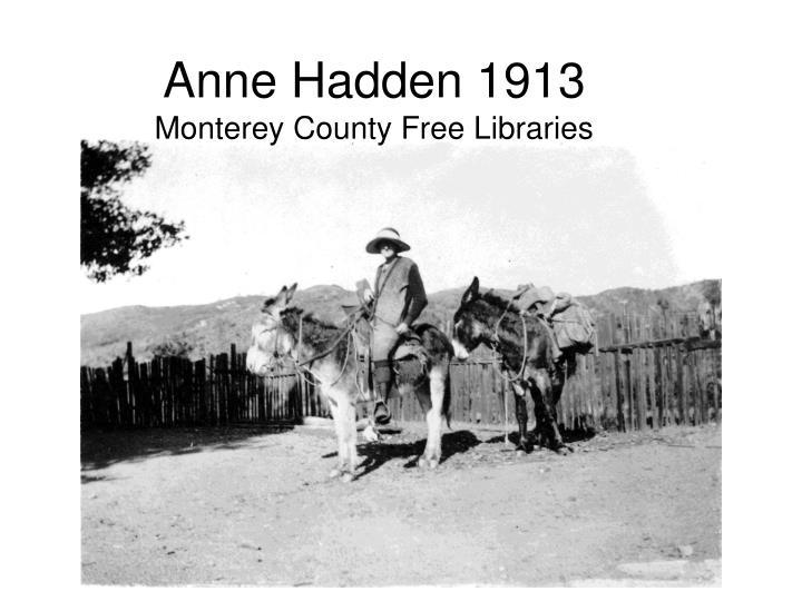 Anne Hadden 1913
