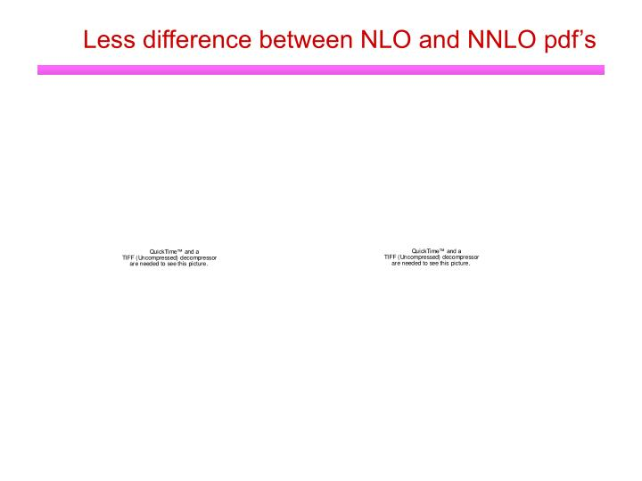 Less difference between NLO and NNLO pdf's