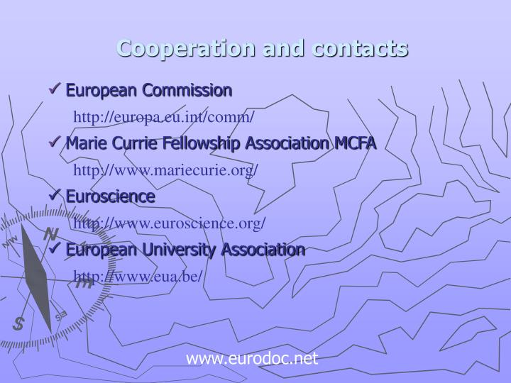 Cooperation and contacts