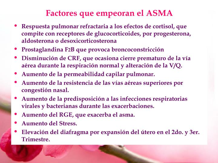 Factores que empeoran el ASMA