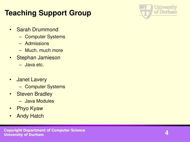 Teaching Support Group