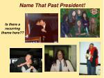 name that past president
