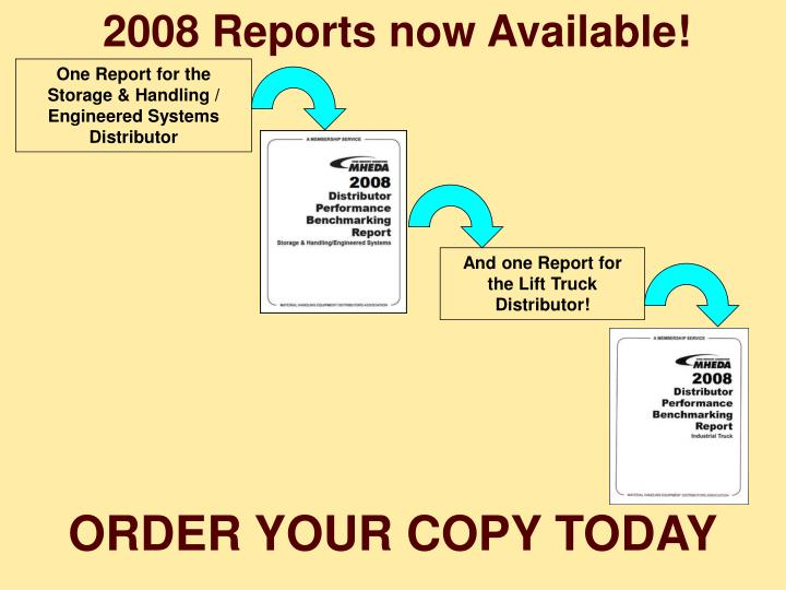 2008 Reports now Available!