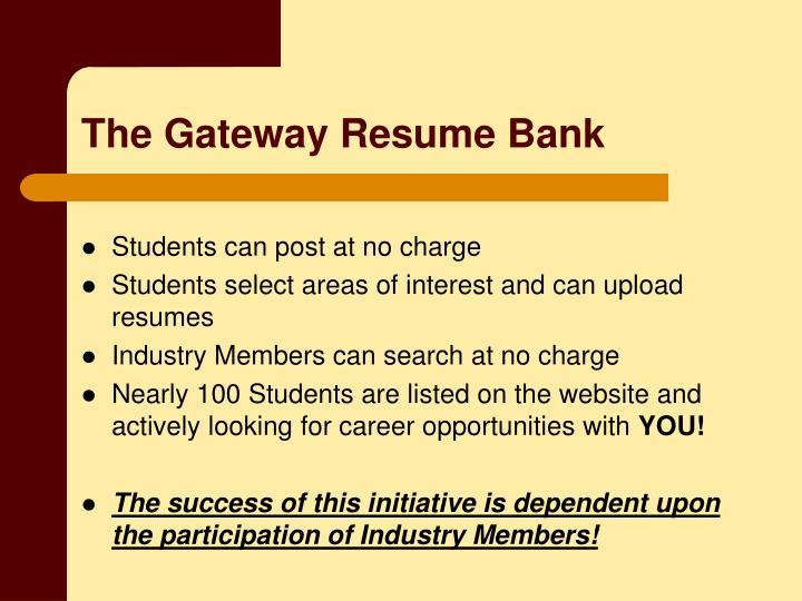 The Gateway Resume Bank