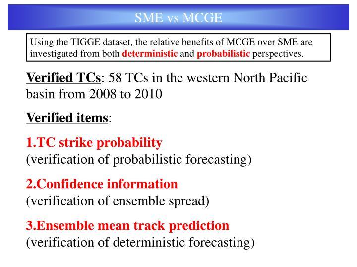 SME vs MCGE