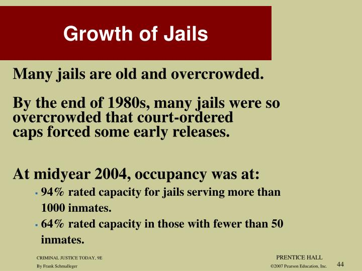 Many jails are old and overcrowded.