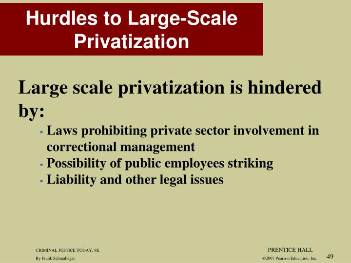 Large scale privatization is hindered