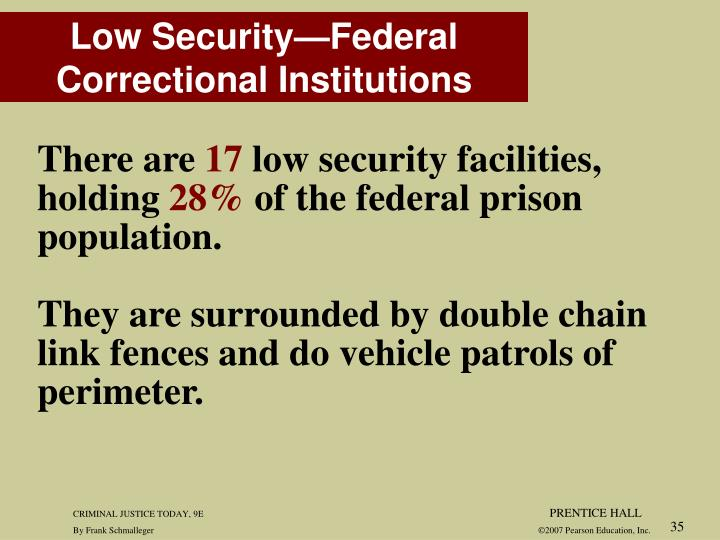 Low Security—Federal Correctional Institutions