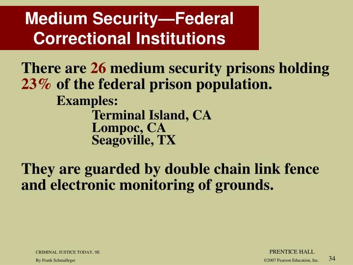 Medium Security—Federal Correctional Institutions