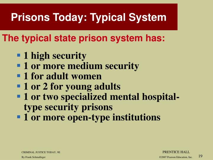 Prisons Today: Typical System