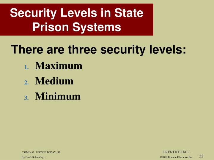There are three security levels: