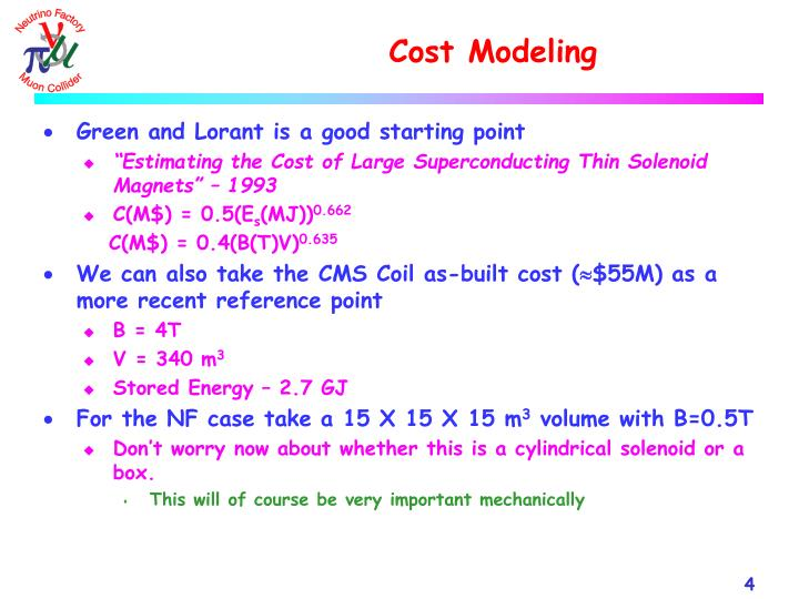 Cost Modeling