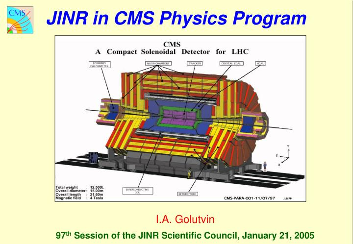 JINR in CMS Physics Program