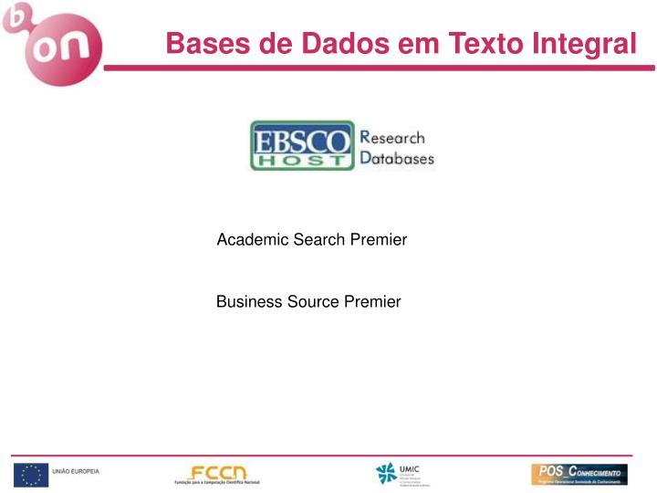 Bases de Dados em Texto Integral