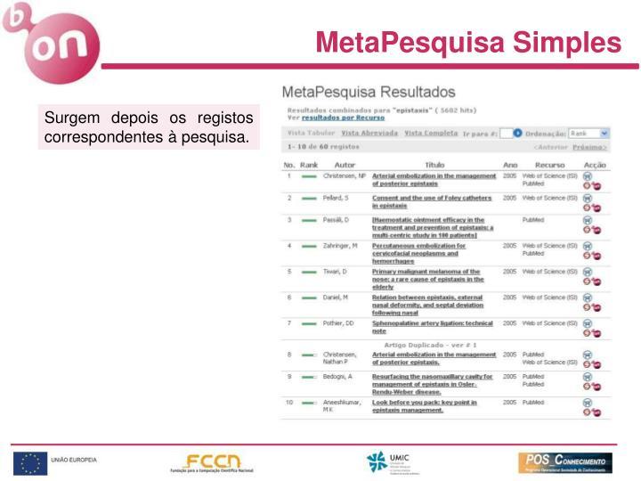 MetaPesquisa Simples
