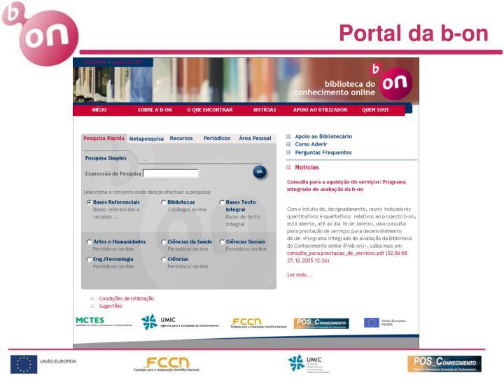 Portal da b-on