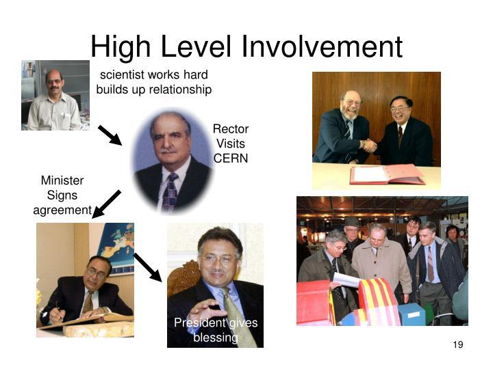 High Level Involvement