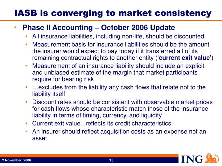 IASB is converging to market consistency