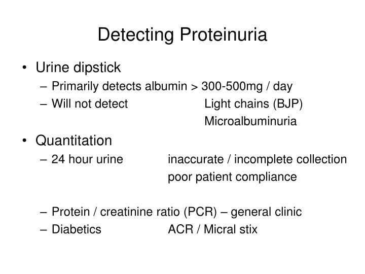 Detecting Proteinuria